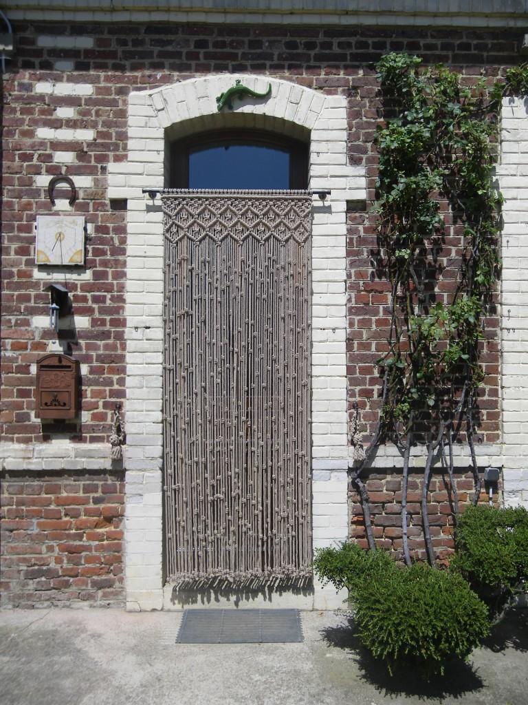 Cortina puerta exterior de macramé