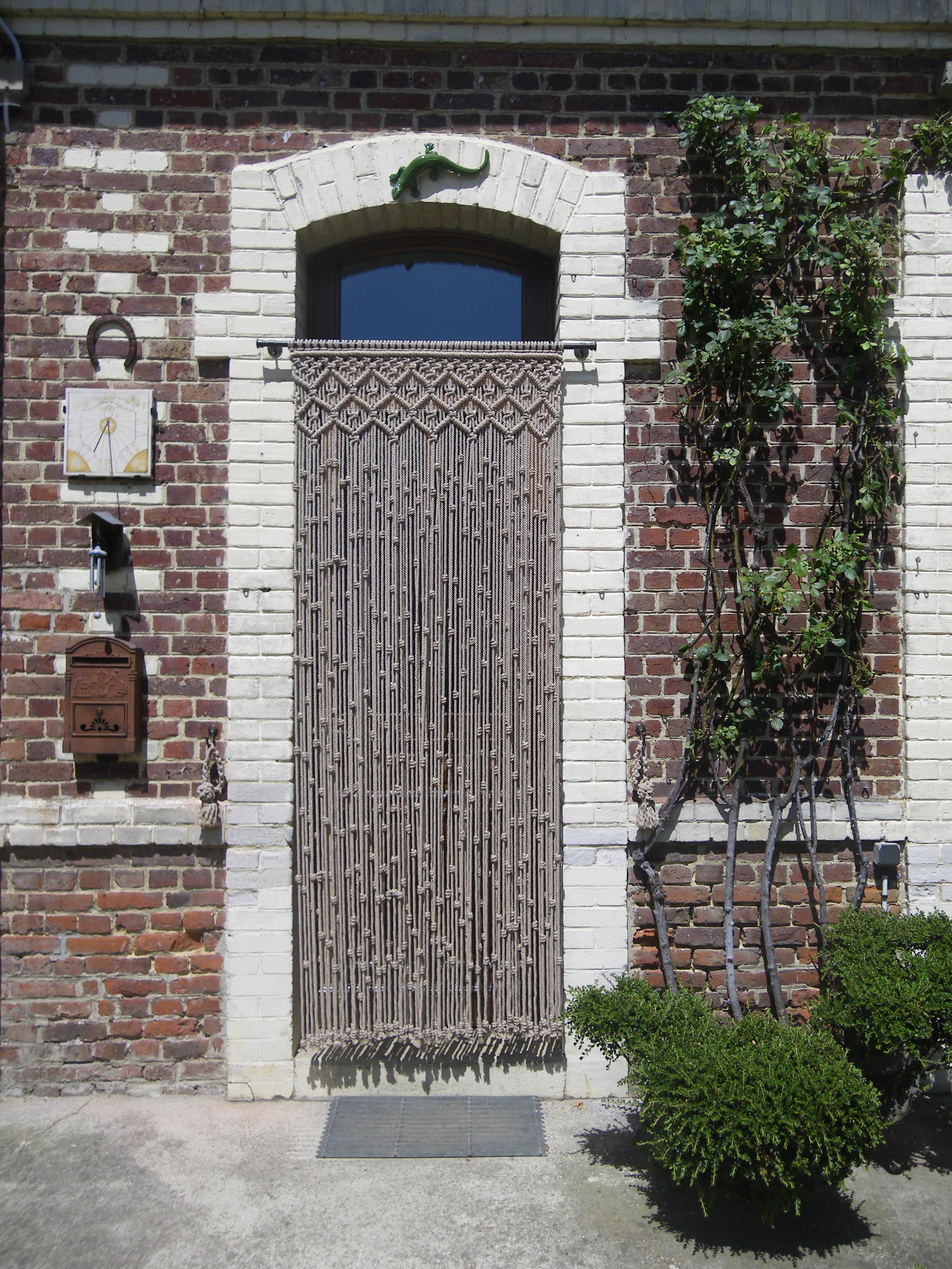 cortina puerta exterior de macram
