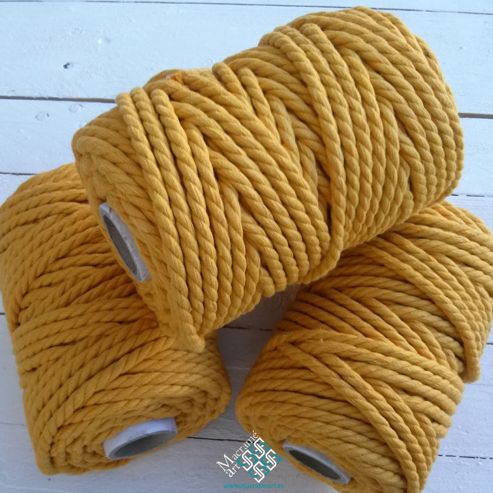 Cuerda macramé color amarillo
