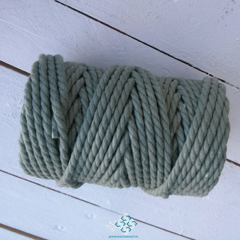 Cuerda macramé color olivo